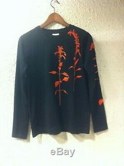 Dries Van Noten Floral-embroidered Cotton Long-sleeve Top Small New