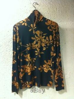 Dries Van Noten High-neck Hezzan Floral Print Long-sleeve Top Small New