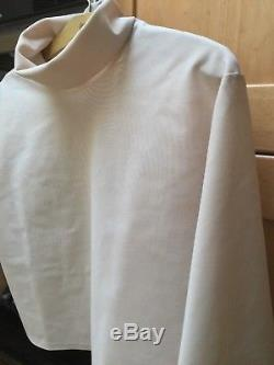 ECKHAUS LATTA Nude-Sheer long Sleeve Cropped Top Size Medium Gorgeous Must See