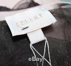ELLERY Brand Khaki Mesh Beige Trim Long Sleeve Cardigan Top Size XS BNWT #SM81