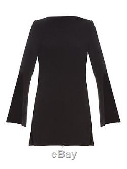 ELLERY'mars long top with centre front split' black tunic long sleeve blouse 6