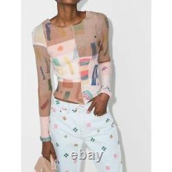 Eckhaus Latta Filati Patchwork Knit Sweater Top