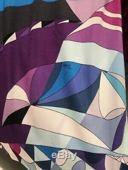 Emilio Pucci Longsleeve Classic Print Top Size 48 Large Uk 16