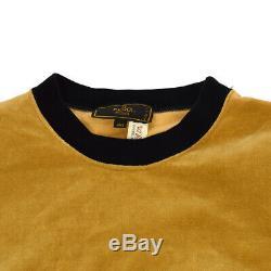 FENDI Logos Round Neck Long Sleeve Tops Shirt Brown Black #40 Cotton AK38345i