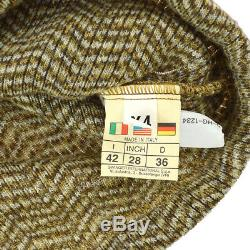 FENDI Turtleneck Logos Long Sleeve Tops Brown Italy Authentic NR14914