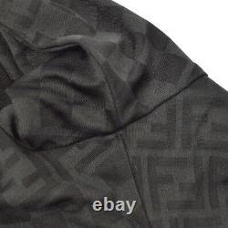 FENDI Vintage Zucca Pattern Long Sleeve Tops Black Cotton Italy AK31319e