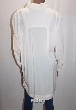 FLANNEL Designer Vanilla Bean Long Sleeve Lotus Shirt Top Size 3 BNWT #SJ10