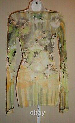 Fabulous, Crazy Rare, Jean Paul Gaultier Femme Ballerina Print Mesh Top