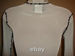 Fabulous, Rare, New Jean Paul Gaultier Maille Long Sleeve Logo Print Mesh Top