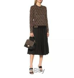 Fendi FF Logo Unisex Brown Long Sleeve Top Sweater One Size. Brand New