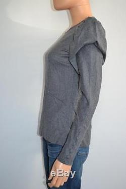Fendi Grey Wool Long Sleeve Top/Blouse Size 38