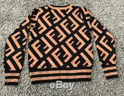 Fendi Logo Knit Long Sleeve Top Sweater One Size Unisex Brand New