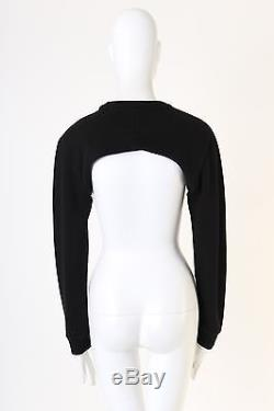 GIVENCHY RICCARDO TISCI RT black crew neck cropped sweater long sleeves top XS