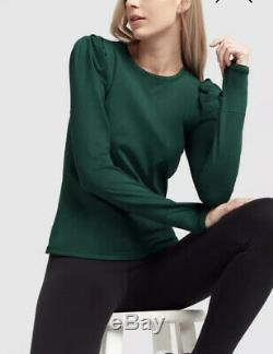 G. Sport by GOOP BRUSHED LONG-SLEEVE PUFF TEE TOP Size Small NWOT