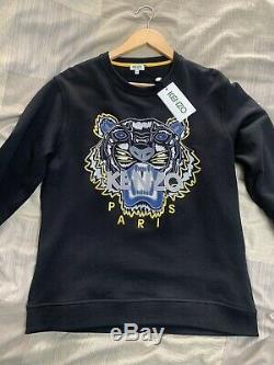 Genuine Kenzo Sweatshirt Jumper Medium Brand New Designer Black Top Longsleeve