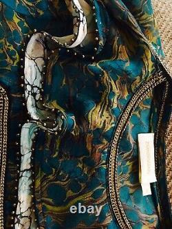 Genuine Rare Zimmermann Stunning Fortune Moon Strider 100% Silk Blouse Top Sz 0