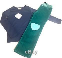 Girls Size 6 7 Hanna Andersson Mini Boden Heart Corduroy Pants Long Sleeve Top