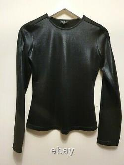 Gucci Tom Ford 1996 Wet Look Long Sleeve Top It 42 Uk 10 Us 6