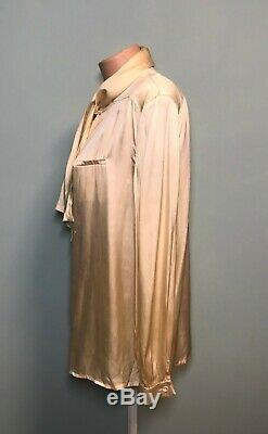 Gucci Women's Long Sleeve Pussy Bow Pure Silk Blouse Top Cream Shirt Size 48 12