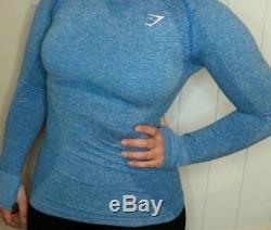 Gymshark Leggings Seamless- Bluberry Marl Long Sleeve Top-bluberry Marl