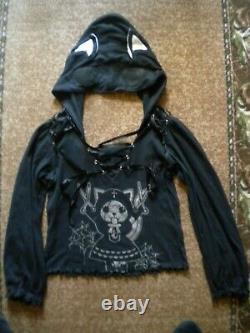 HANGRY & ANGRY Cat With Scissors Gothic Long Sleeve Top (Rare) by h. NAOTO