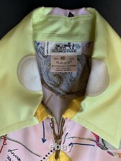 HERMES Long Sleeve Shirt Blouse Silk Black, Zipper, 40, Palm Beach Polo, New