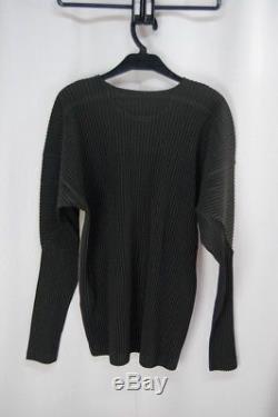 HOMME PLISSE ISSEY MIYAKE Beige/Gray Men's Long Sleeve Top size3 250 1431