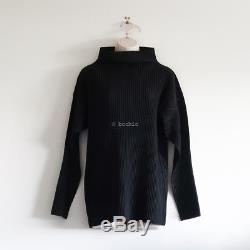 HOMME PLISSE ISSEY MIYAKE mock neck long sleeve top black neck pleats please
