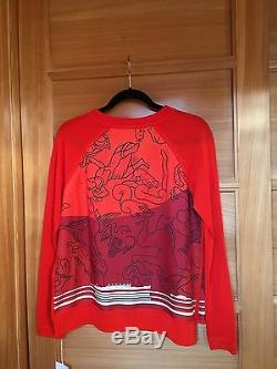 Hermes Constellations Star Silk Long Sleeve Sweater Top