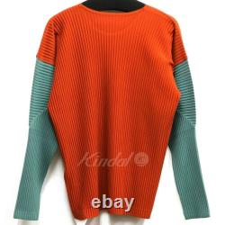 Homme Prisse Issey Miyake Plisse 19Aw Pleats Bicolor Long Sleeve Top rare NEW