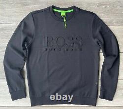 Hugo Boss Green Label Black Salbo Crew Jumper Sweatshirt Top Large New Tag