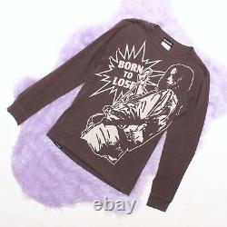 Hysteric Glamour Born To Lose woman print long sleeve top S