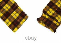ISSEY MIYAKE me Plaids Pleats High-neck Top Size F(K-92118)