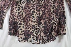 Isabel Marant Etoile $510 Leopard Silk Jemet Long Sleeve Blouse / Top 2