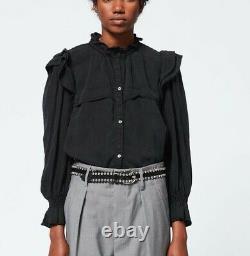 Isabel Marant Etoile Tedy Idety Top Black- Size S/M US6 FR38