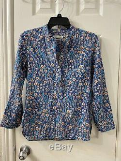 Isabel marant Etoile Floral Printed Long Sleeve Blouse Top Sz 36