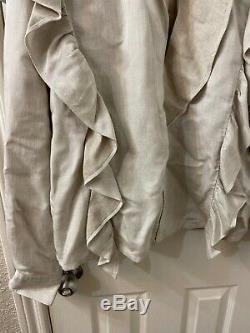 Isabel marant Etoile Long Sleeve Cotton Ruffle Blouse Top Sz 40