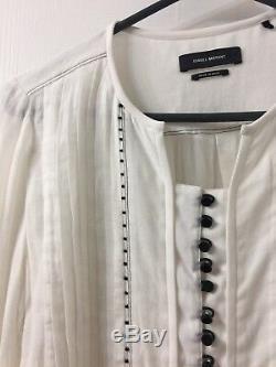 Isabel marant White Long Sleeve Blouse Top Sz 38