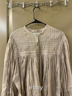 Isabel marant etoile nude long sleeve blouse top sz 42 (item 9.8)