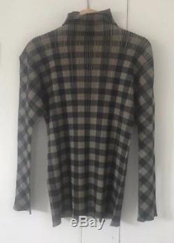 Issey Miyake, Pleats Please Long Sleeved Top, Medium, from Japan