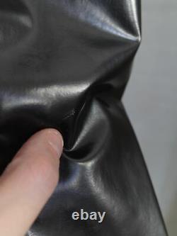 Issey Miyake black vinyl waist gusset longsleeve top womens M mens S XS