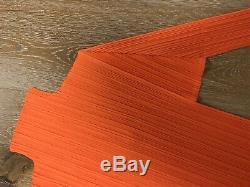 Issey miyake pleats please bright neon orange turtleneck long sleeve top