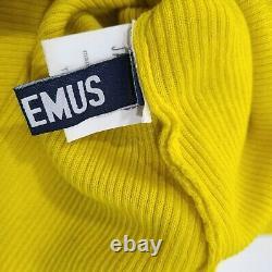 JACQUEMUS Yellow Ribbed Knit Top