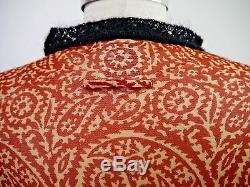 JEAN PAUL GAULTIER JPG MAILLE print nylon mesh long sleeve top black knit trim M