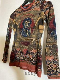 JEAN PAUL GAULTIER Ladies Archive Long Sleeve Mesh Top Tatto Pattern from Japan