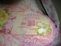 JEAN PAUL GAULTIER MESH pink floral money l'enfant Terrible shirt top size Large