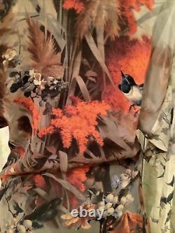 JEAN PAUL GAULTIER New Pure Silk Top Tunic Uk 8 Birds