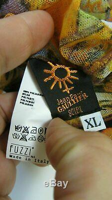 JEAN PAUL GAULTIER Soleil Top Mesh 1990s Long Sleeve Size XL