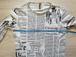 JOHN GALLIANO Newspaper Gazette Print Sweatshirt Long sleeve Top Extra RARE