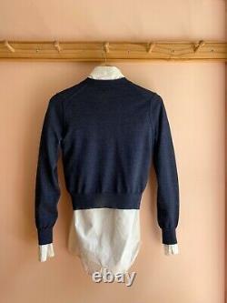 JUNYA WATANABE comme des garcons NWOT fine gauge wool cardigan sweater top S xs